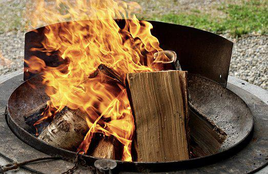 Barbecue Area, Grill Shell, Grill, Fire, Flame, Burn