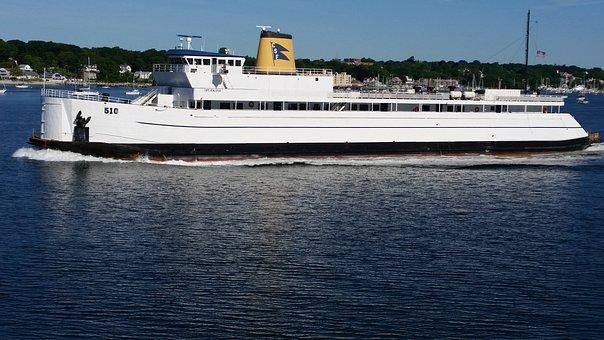 Long Island, Ferry, Ny, Island, Ocean, Boat, Water