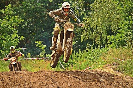 Dirtbike, Enduro, Motocross, Jump, Motorcycle