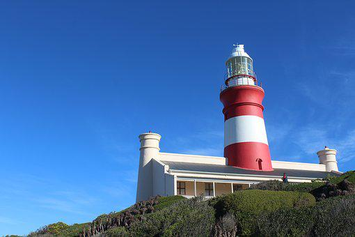 Lighthouse, Cape Agulhus, Southern Most Tip Of Africa