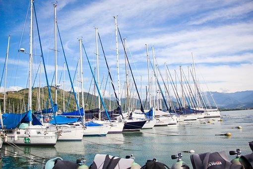 Marina, Boats, Vessel, Beira Mar, Porto, Litoral