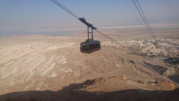 Cable Car, Masada, Israel, Desert