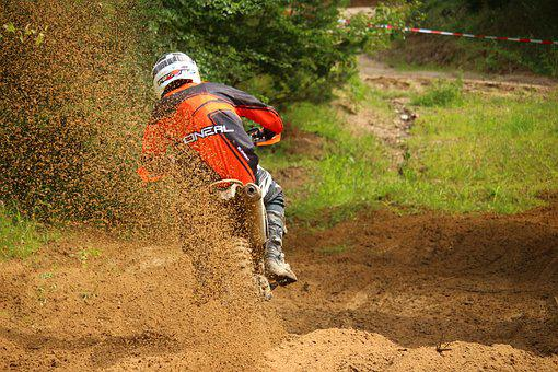 Motocross, Motorcycle, Cross, Action, Enduro, Sport