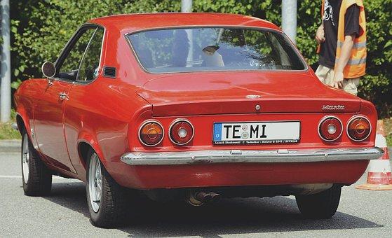 Manta, Auto, Companions, Classic, Emblem, Old, Old Car