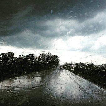 Rain, Drops, Road, Wet, Glass, Drop, Window