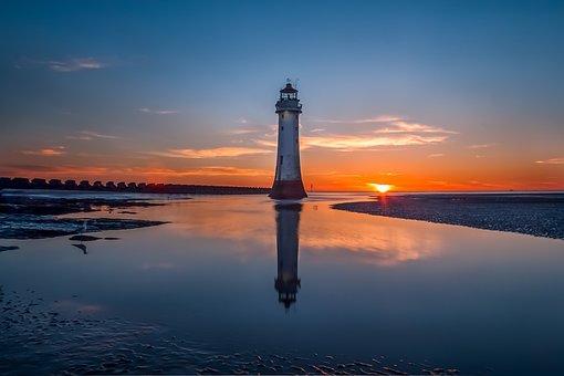Lighthouse, Marine, Sky, Landmark, Landscape, Seascape