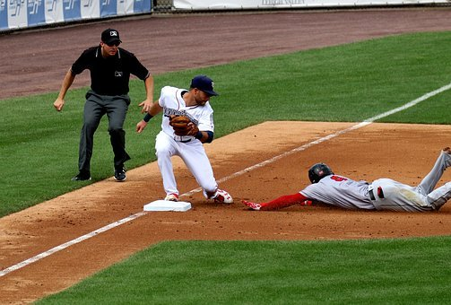 Out, Slide, Baseball, Third Base, Play, Allentown