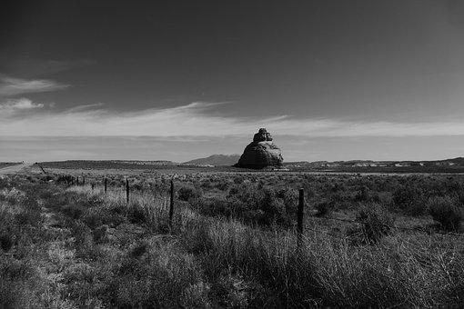 Utah, Desert, Arid, Dry, Landscape, Wilderness, Fence
