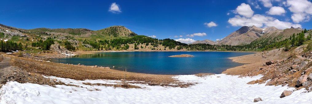 Allos Lake, Lake, Allos, Alps Of High Provence