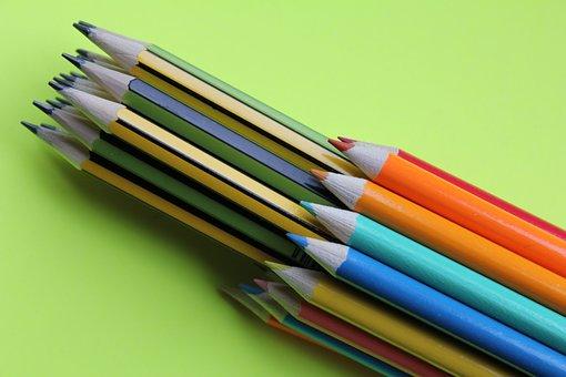 Pencils, Coloured, Draw, Sketch, Lead, Art, Color