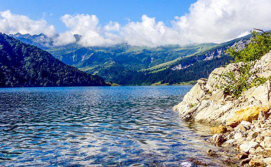 Lake Roseland, Barage Of Roseland, Alps, Mountain, Dam