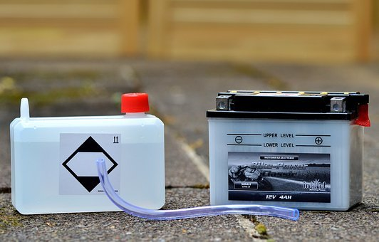 Battery, Motorcycle Battery, Battery Acid