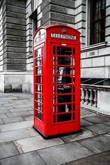 England, Big Ben, London, Cabin Phone, Great Britain