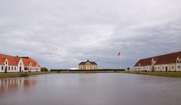 Valdemar, Castle, Lake, Cloudscape, The Island Taasinge