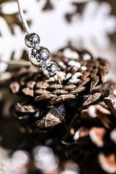 Pinecone, Cone, Pearls, Decoration, Nature