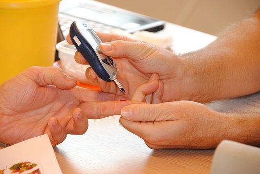 Sugar, Blood Test, Quicktest, Diabetes, Drops Of Blood
