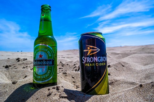 Beer, Cider, Heinekein, Strongbow, Beach, Summer, Drink