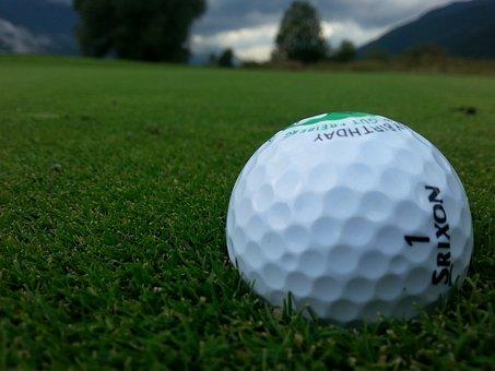 Golf, Golf Ball, Close, Gewitterstimmung, Sport, About
