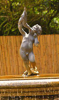 Stature, Water, Fountain, Artwork, Art, Mystical