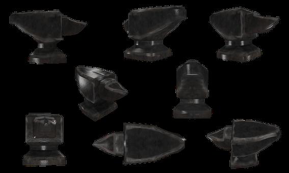 Anvil, Metal, Me, Forge, 2d, Object, Transparent