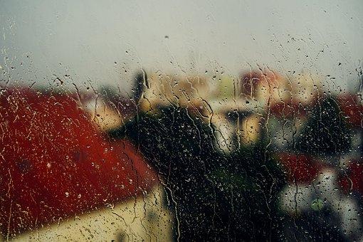 Window, Rain, Raining, Rainy, Glass, Water, Drop, Wet