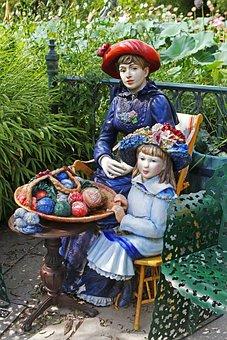 Sculpture, Grounds For Sculpture, Renoir, Woman, Girl