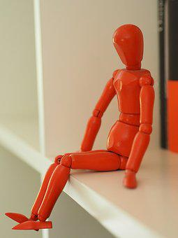 Character, Sitting, Puppet, Only, Based, Seated Figure