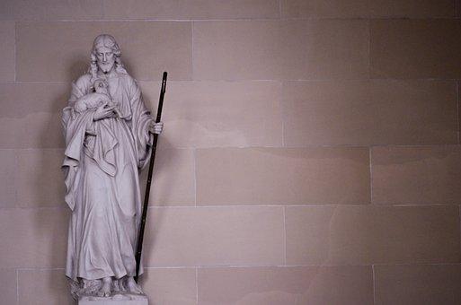 Jesus, Good Shepherd, Shepherd, Statue, Sheep, Catholic