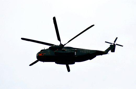 Helicopter, Bundeswehr, Summer, Use, Military