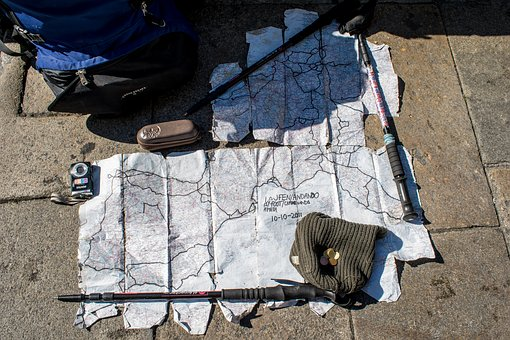Backpacking, Trip, Travel, Map