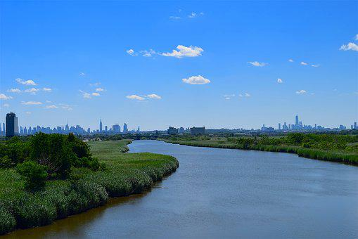 River, Landscape, Blue Sky, Waterway, Nature, Sky, Tree