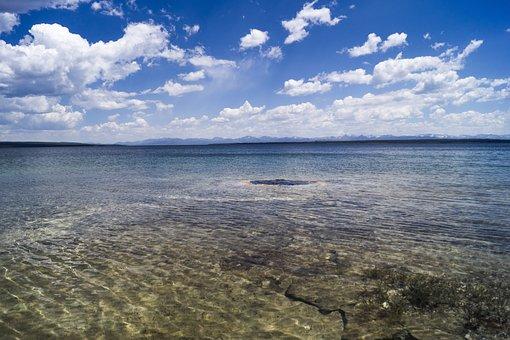 Under Water, Geyser, Yellowstone, Water, Spring, Blue