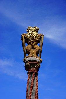 Fig, Lion, Lion Fountain, Ulmer Muenster Space, Ulm
