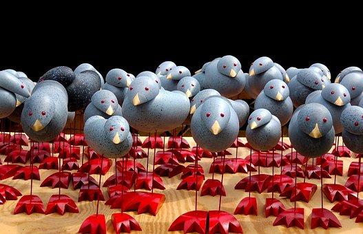 Birds, Mass Flight, Flock Of Birds
