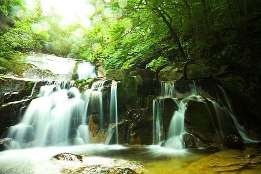 Valley, Nature, Landscape, Waterfall, Mountain, Rock