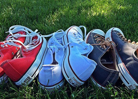 July 4th, Patriotic, Independence, Sneakers, Chucks