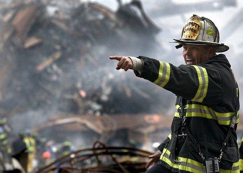 Fireman, Firefighter, Rubble, 9 11, Disaster