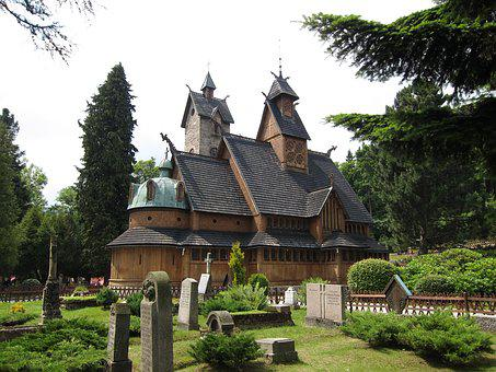 Stave Church Wang, Karpacz, Poland, Woods, Architecture