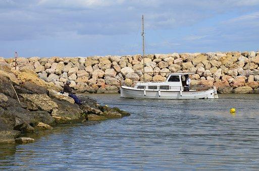 Sea, Fishing, Boat, Port, Fishermen, Water, Nature