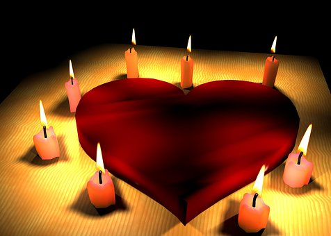 Heart, Love, Candle, Light, Wax, Candlelight, Flame