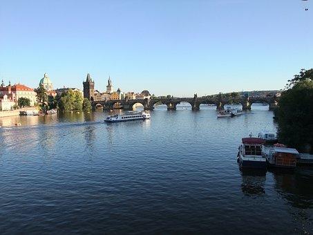 Prague, Czech Republic, Charles Bridge, City, Castle