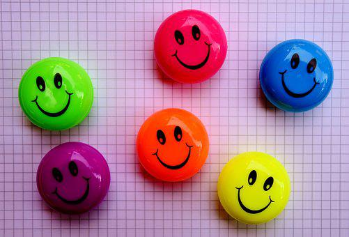 Smilies, Funny, Cheerful, Smile, Colorful, Faces, Laugh