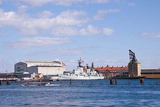 Copenhagen, Harbour, Ships, Ocean, Denmark, Danish