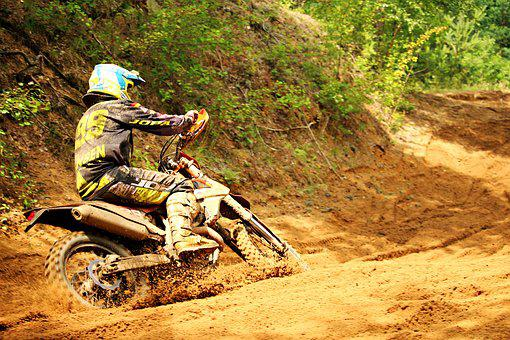 Enduro, Dirtbike, Motocross, Sand, Motocross Ride