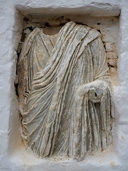 Ancient Statue, Roman Statue, Grèse, Folegandros