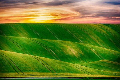 Hills, Countryside, Sky, Rural, Outdoor, Field, Summer