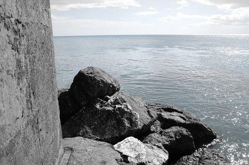 Sea, Soledad, Calm, Horizon, Calm Sea, Serenity