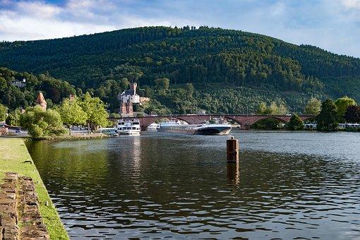 Landscape, River, Water, Nature, Bridge, Forest, Bank