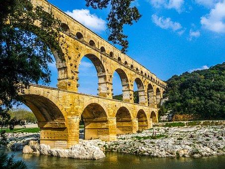 Pont Du Gard, Nimes, Arles, Ales, Viaduct, Aqueduct