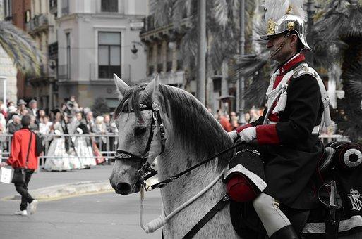 Parties, Horse, Rider, Valencia, Show, Royal Guard